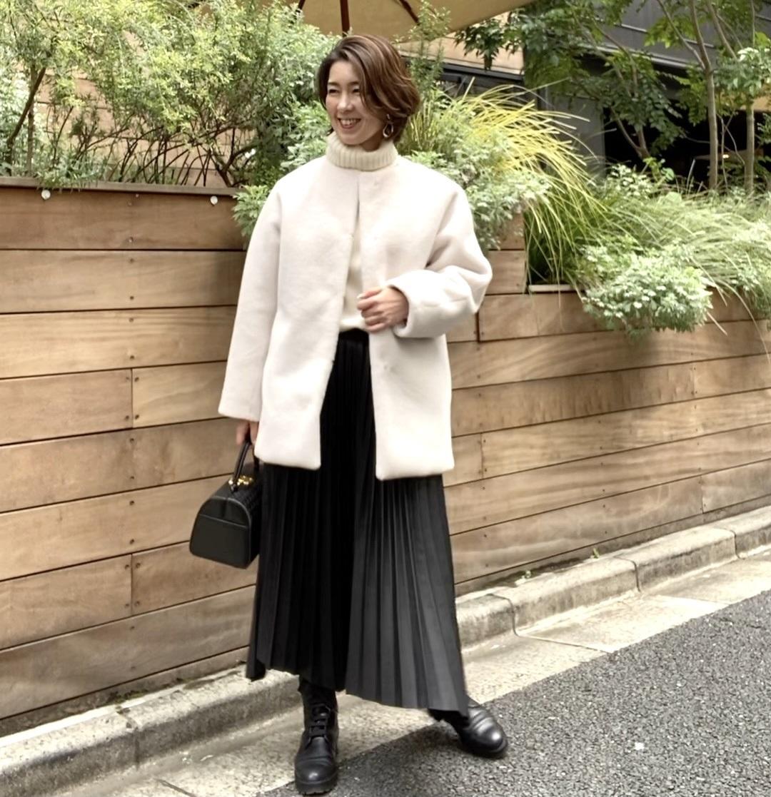 ZARAエコレザースカートで神社参拝_1_5