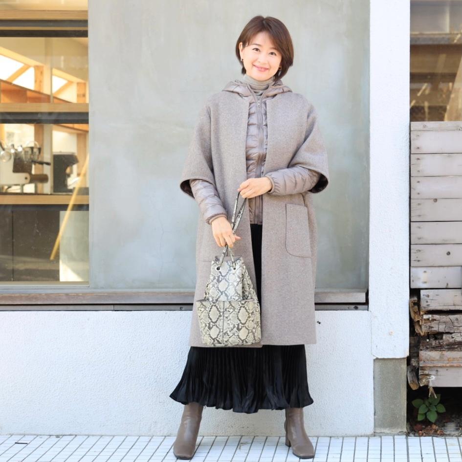 黒艶ロングスカートで私流フェミニンコーデ_1_1