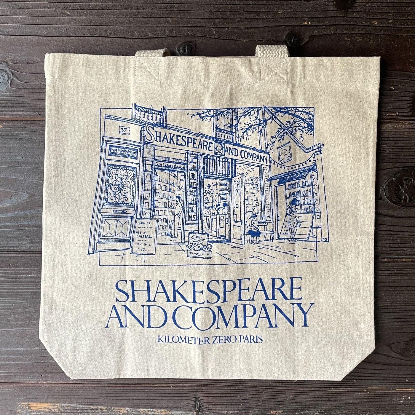 フランスの書店Shakespeare and Companyが描かれたエコバッグ