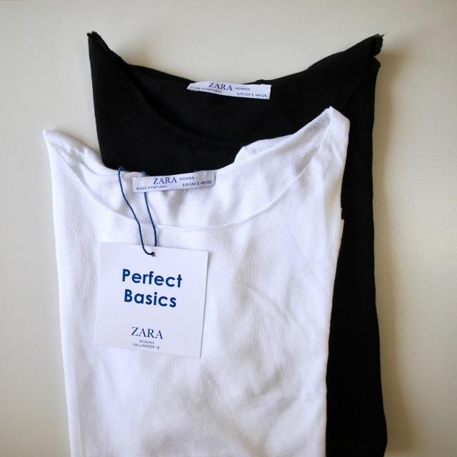 ファッション ZARAのベーシックTシャツ