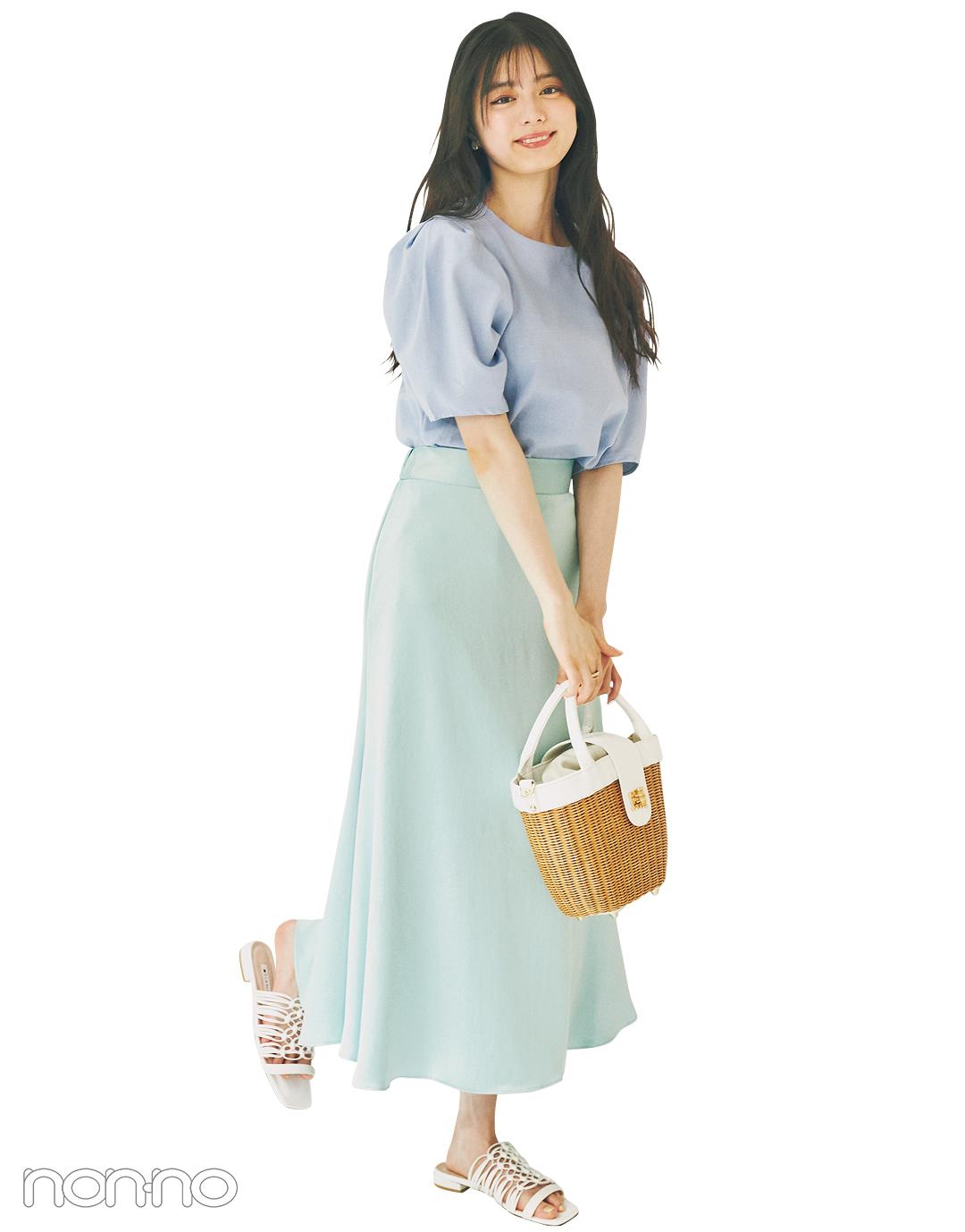 紺野彩夏の好感度ガーリーなパステル派モデルカット9−1