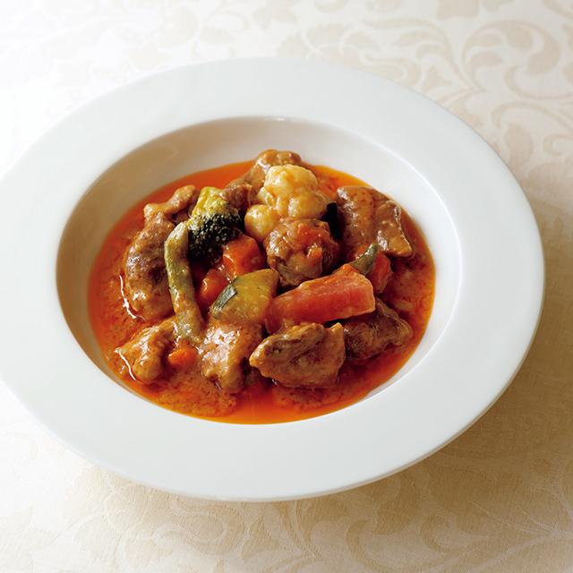 「仔羊と野菜の白ワイン、トマト煮込み」¥1,200
