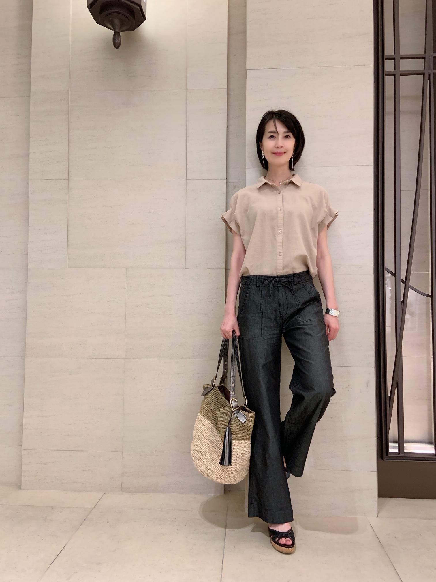 プチプラファッションで、サクッと「夏の黒」_1_2
