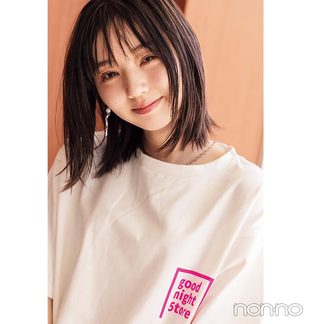 江野沢愛美が着るバックロゴTシャツコーデ13