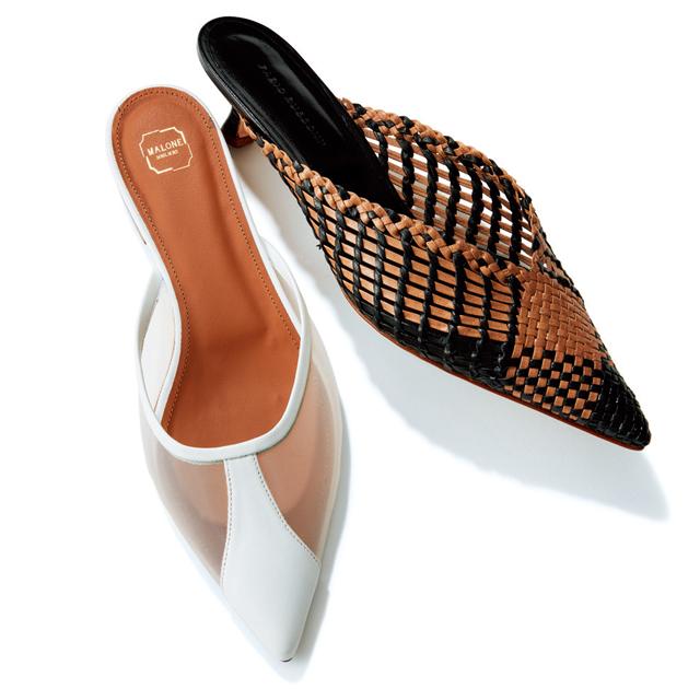 とんがりフェミニン靴