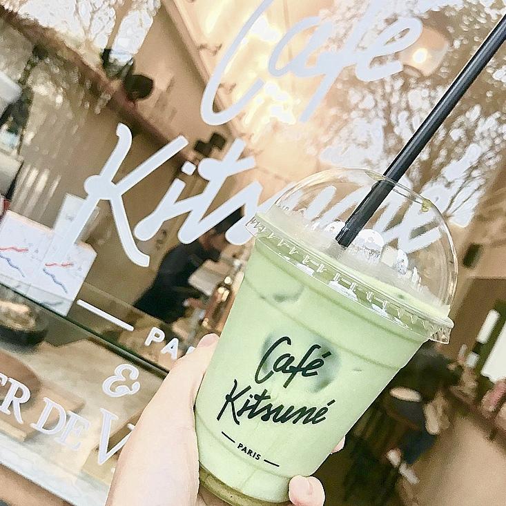 【抹茶】好き必見!Maison Kituné カフェの抹茶ラテを紹介します♡_1_2