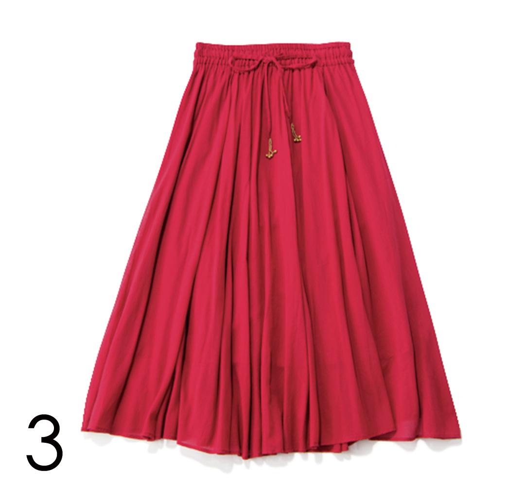 夏だからはきたい! カジュアル派の今っぽ赤スカート4選_1_4-3