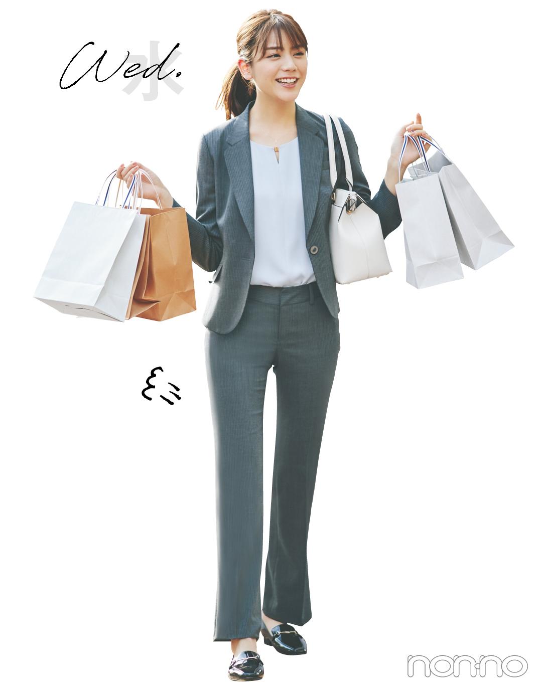 【新社会人のオフィスコーデ】堅め企業勤務の1週間&買うべき名品をチェック!_1_7