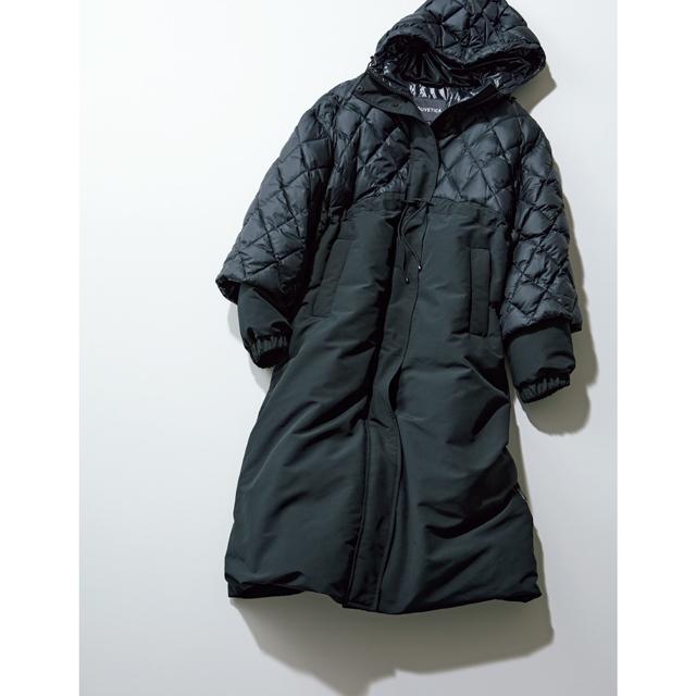 キルト&ダウンのコンビデザインが新鮮なコート