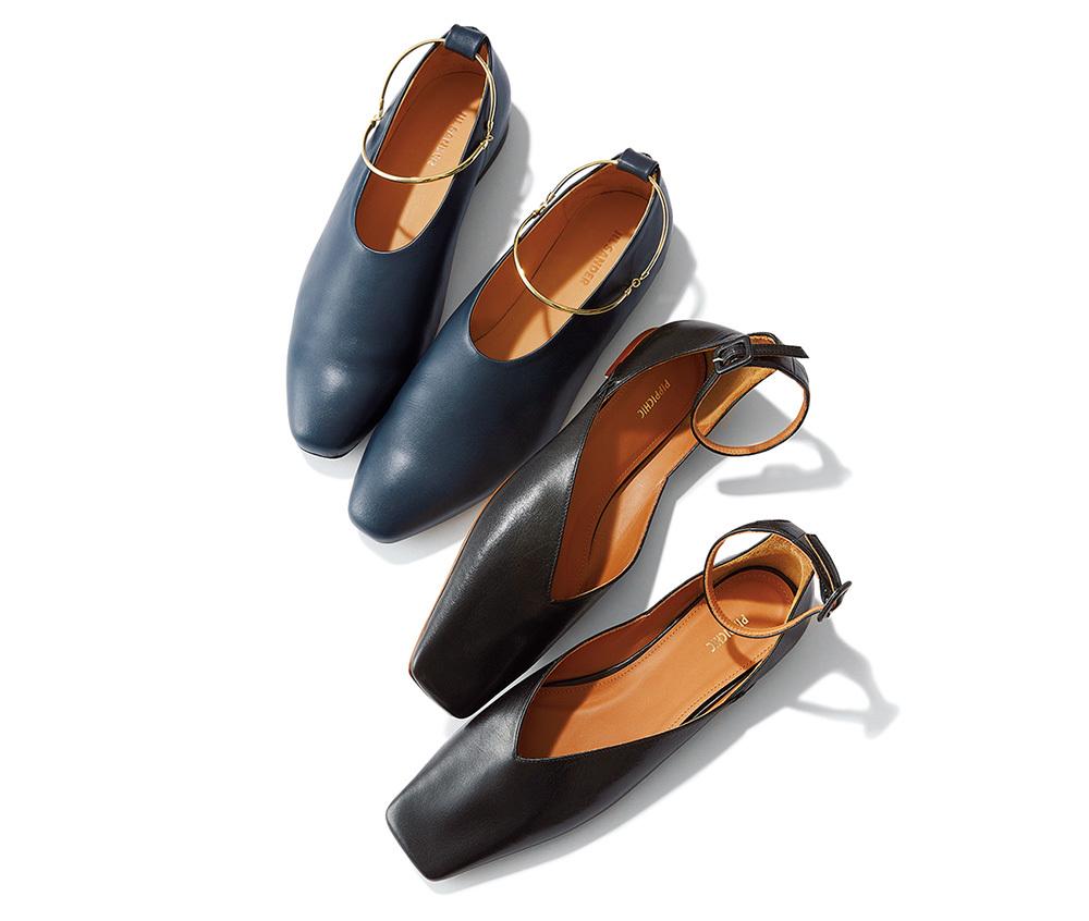 秋トレンド 靴 フラットシューズ