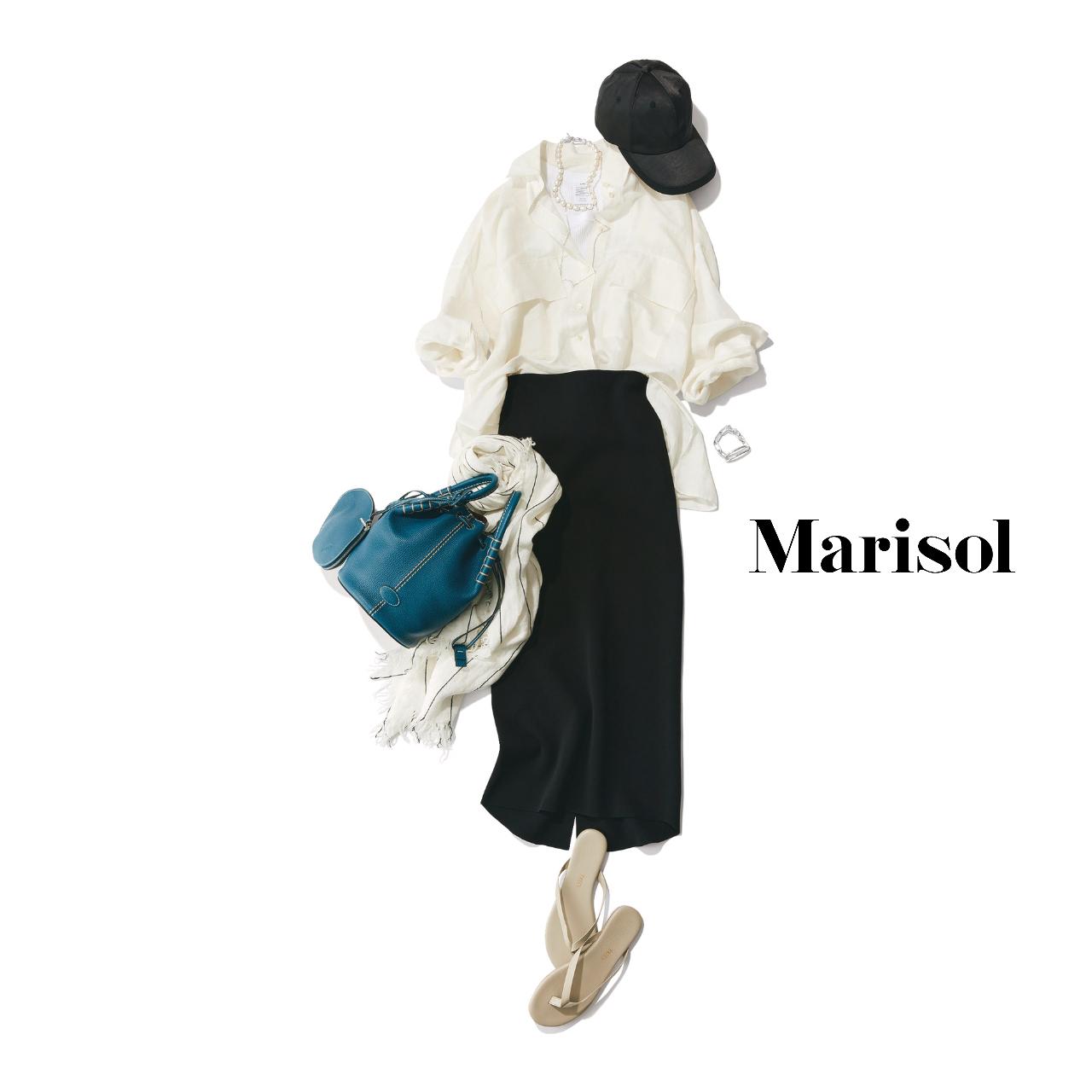 40代ファッション  キャップ×シャツ×パンツ×ビーサンコーデ