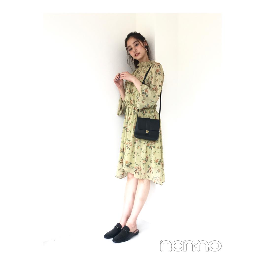 新木優子が着る、秋を先取れる大人花柄ワンピ【毎日コーデ】_1_1