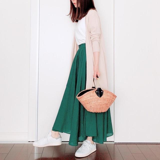 カラースカートでマンネリ打破【tomomiyuの毎日コーデ】_1_2