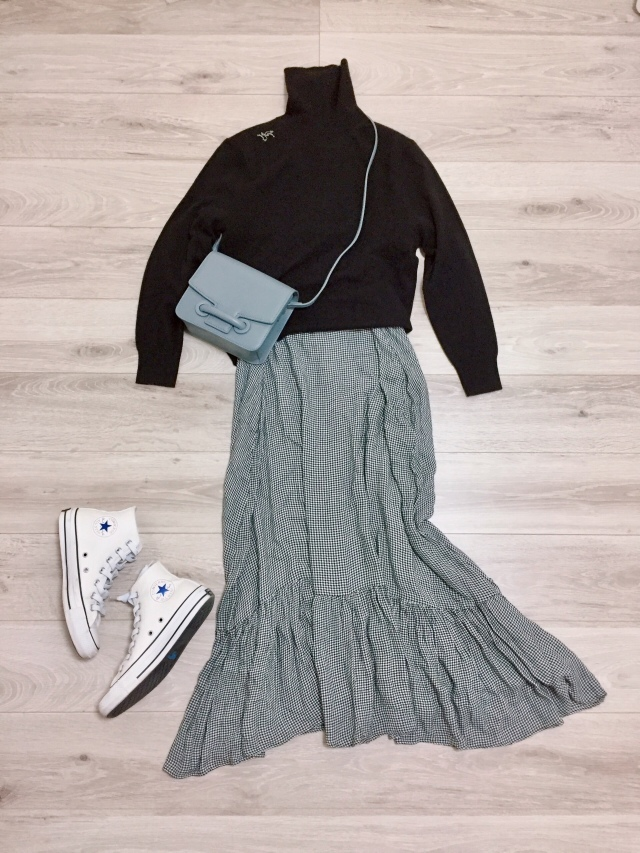 UNIQLOカシミヤセーター着まわし【momoko_fashion】_1_3-1