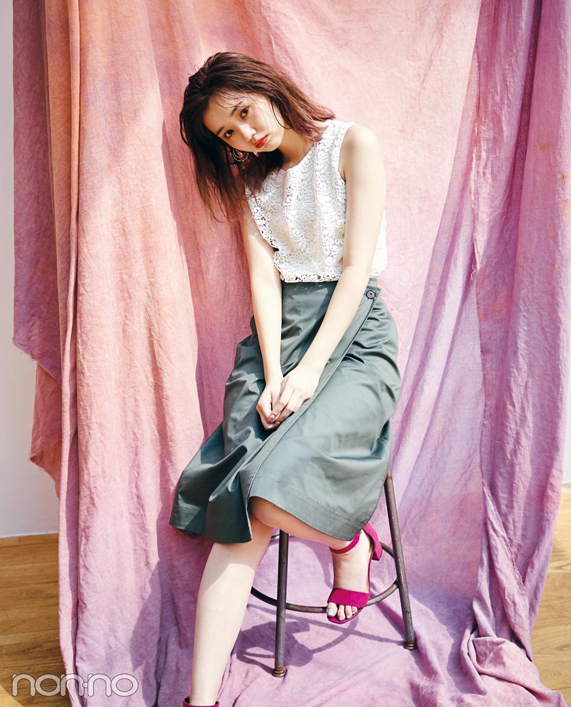 【夏のノースリーブコーデ】江野沢愛美のノースリーブコーデは清楚カワイイ