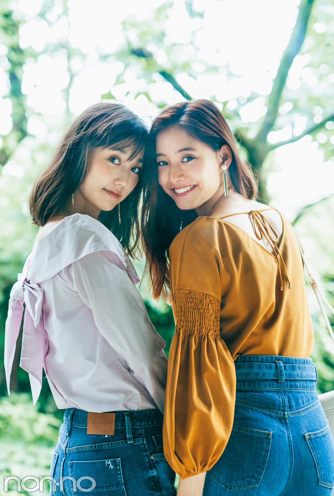 優愛&優子&友菜が超絶キレイでため息♡ 女っぽトップスでデニムコーデ!_1_1-3