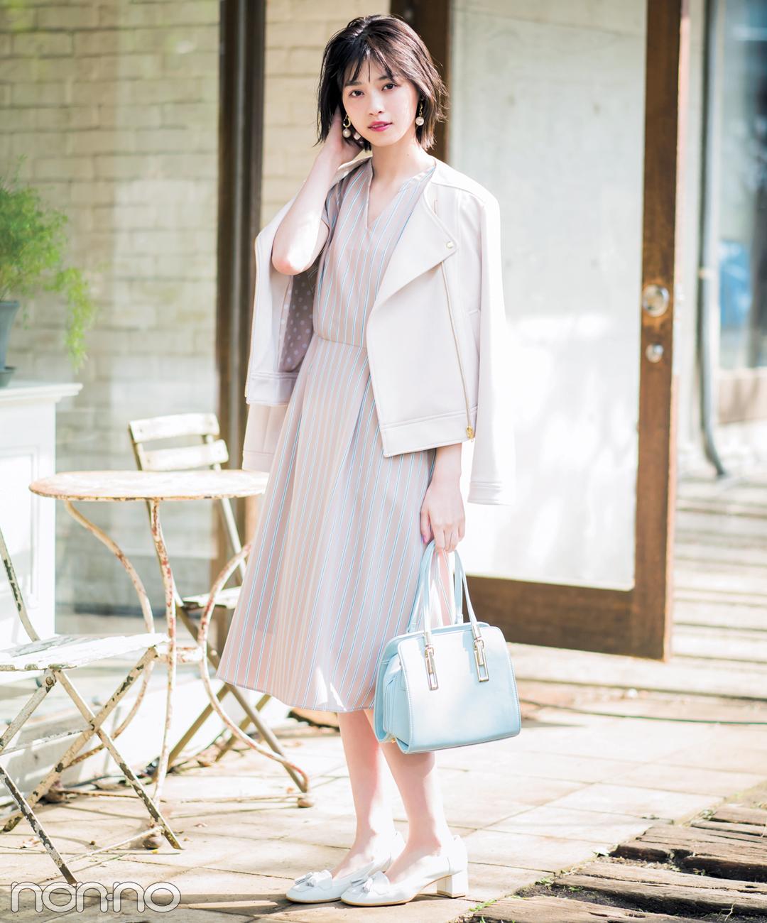 西野七瀬が着る♡ トレンドのストライプ柄ワンピ、春コーデ3選!_1_2-2