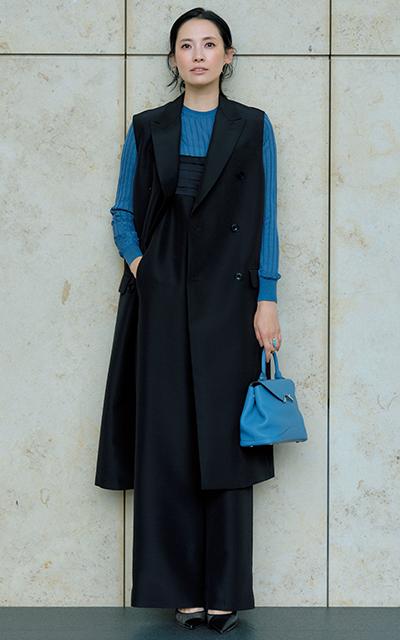 セットアップファッションの浜島直子