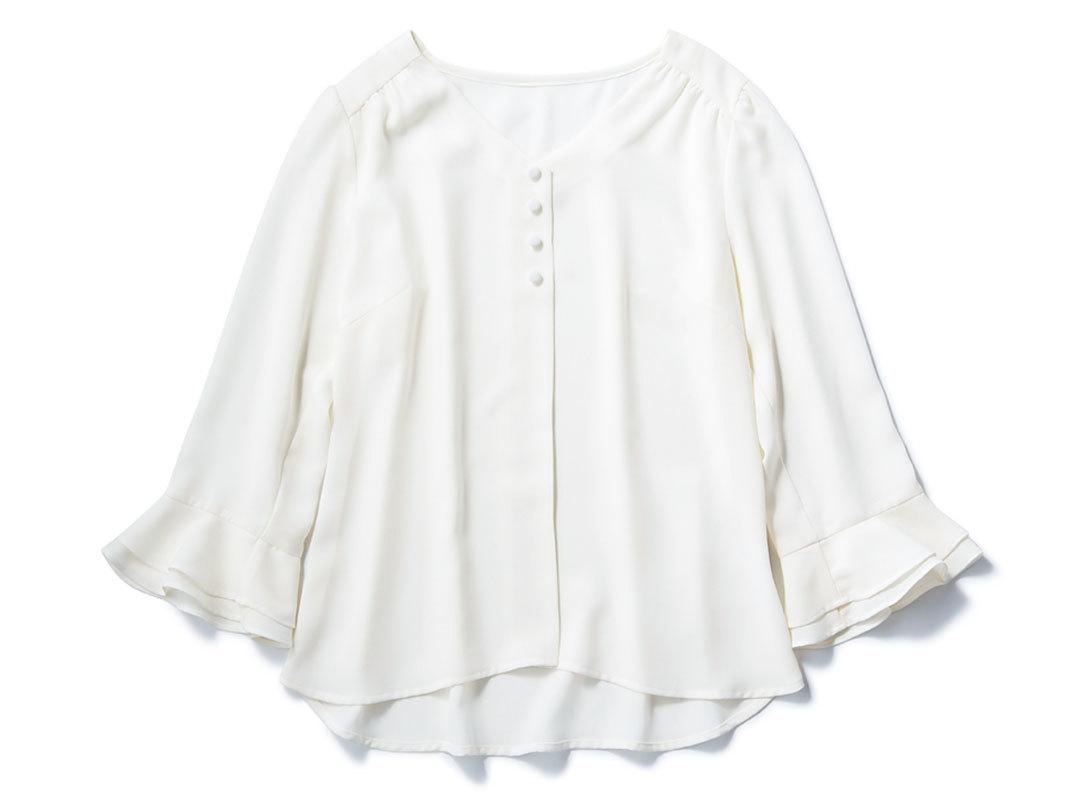 ノンノモデル西野七瀬がナビ♡ 毎日新鮮な白ブラウス着回し1×3_1_1