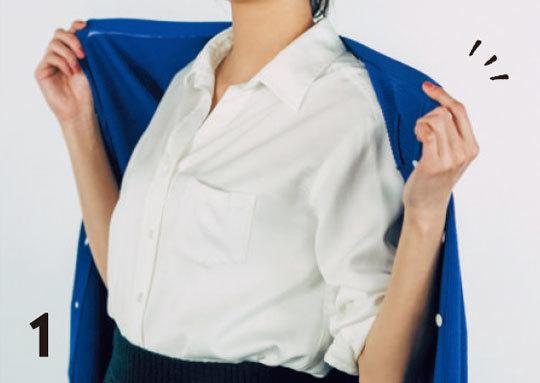 素敵に見えるシャツの着こなし方TIPS★どうやる?「カーディガンの肩ばおり」_1_2-1