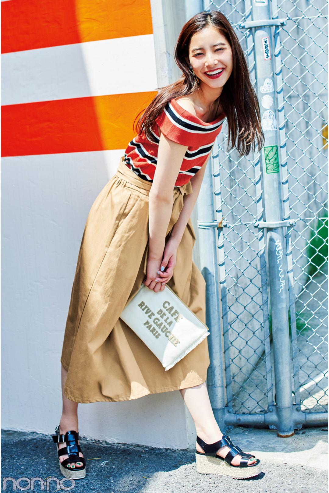 新木優子のチノスカート着回しコーデ♡ カジュアル派におすすめ!_1_3-3
