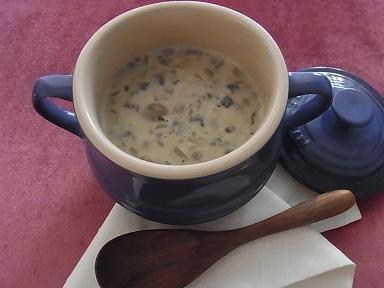 きのこの力でお通じ改善。豆乳マッシュルーム濃厚スープ_1_1