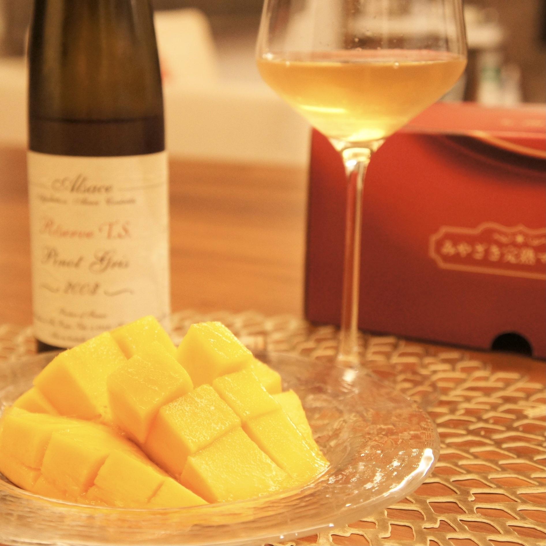 マンゴー、ワイン