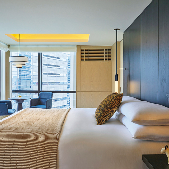 プラ ンで宿泊するのは、角部屋でゆとりあるプレミアムコーナーキング以上の 客室