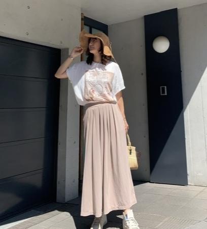 夏の帽子コーデ