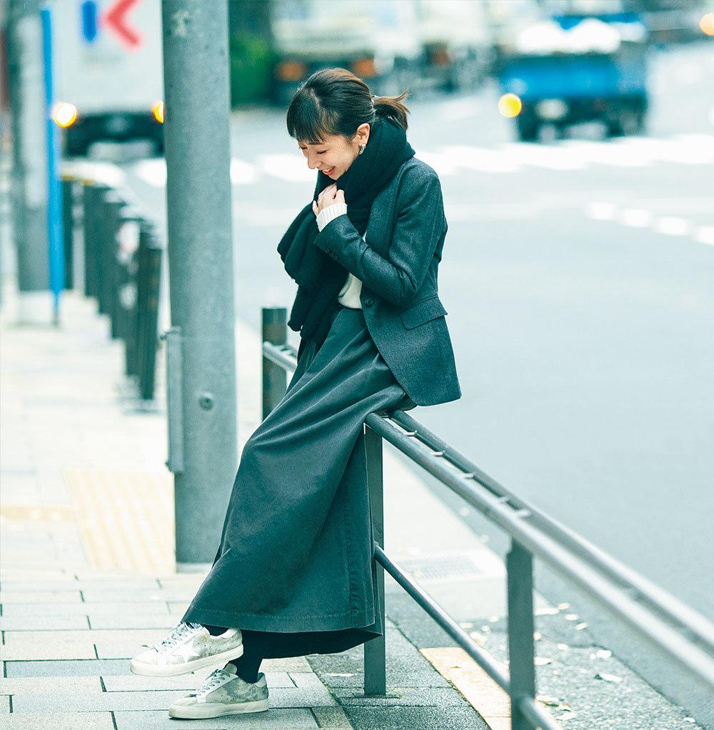 「簡単に女っぽくなれて、楽ちん!」スタイリスト徳原文子さんのカジュアルロングスカート3選_1_2-2