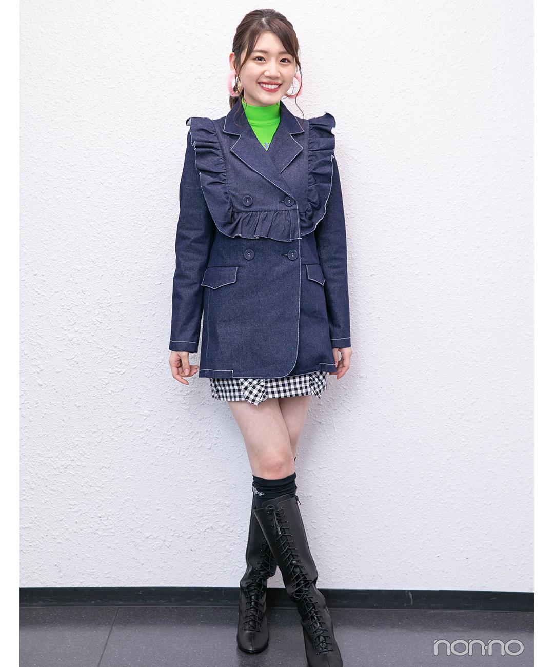 佐々木美玲(日向坂46)「日向坂46×DASADA LIVE&FASHION SHOW」衣装1