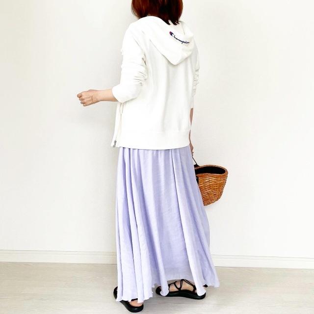 お家で洗濯出来る!華やかカラースカート【tomomiyuコーデ】_1_8