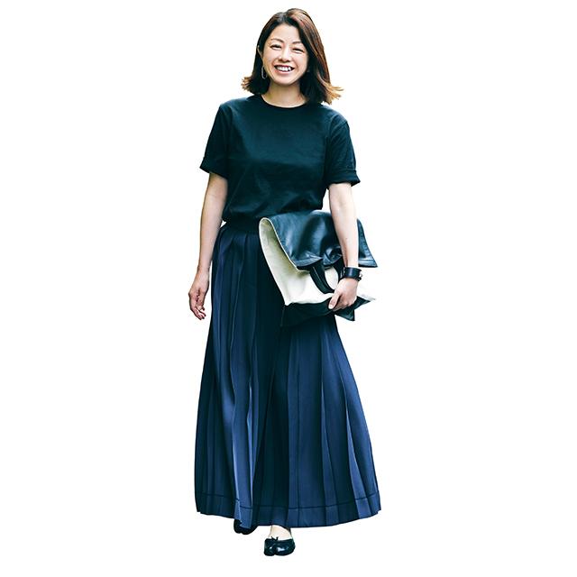 ロング丈で大人らしい上品な印象に!「Tシャツ×スカート」 五選_1_1-2