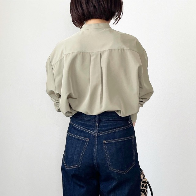 秋の始まりはピンタックシャツから【tomomiyuコーデ】_1_8