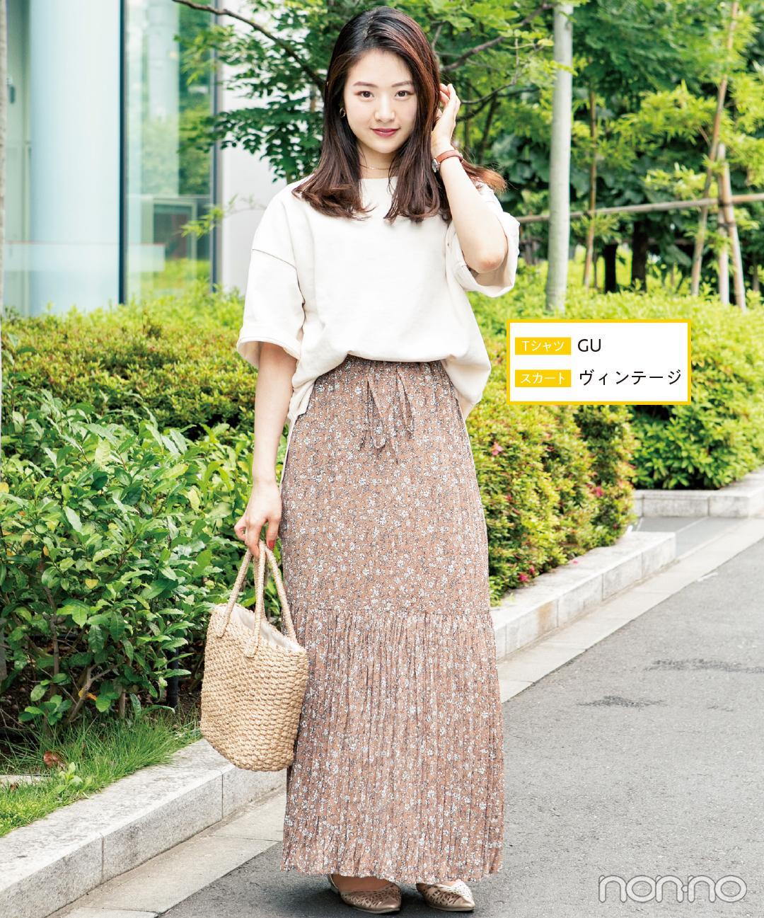 Tシャツなのに女っぽい★ロングスカートコーデが大人気!【カワイイ選抜】_1_2