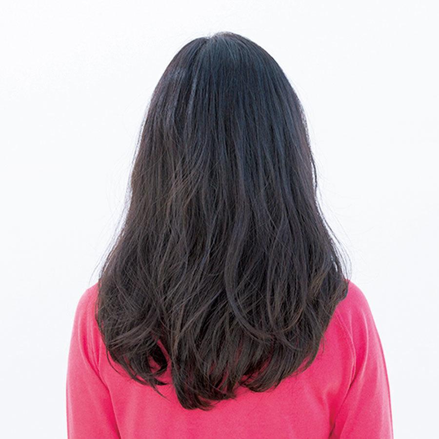 顔まわりの肌見せですっきり&ルーズなパーマMIXロングヘア【40代のロングヘア】_1_1-3