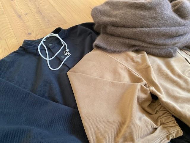 MUJI LABOの起毛ドロップショルダースタンドカラーシャツが使えます♡_1_2-2