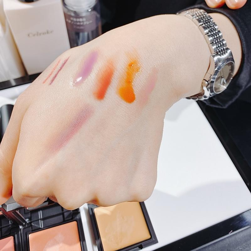 セルヴォークの2021春夏コレクションのリップグロスの発色