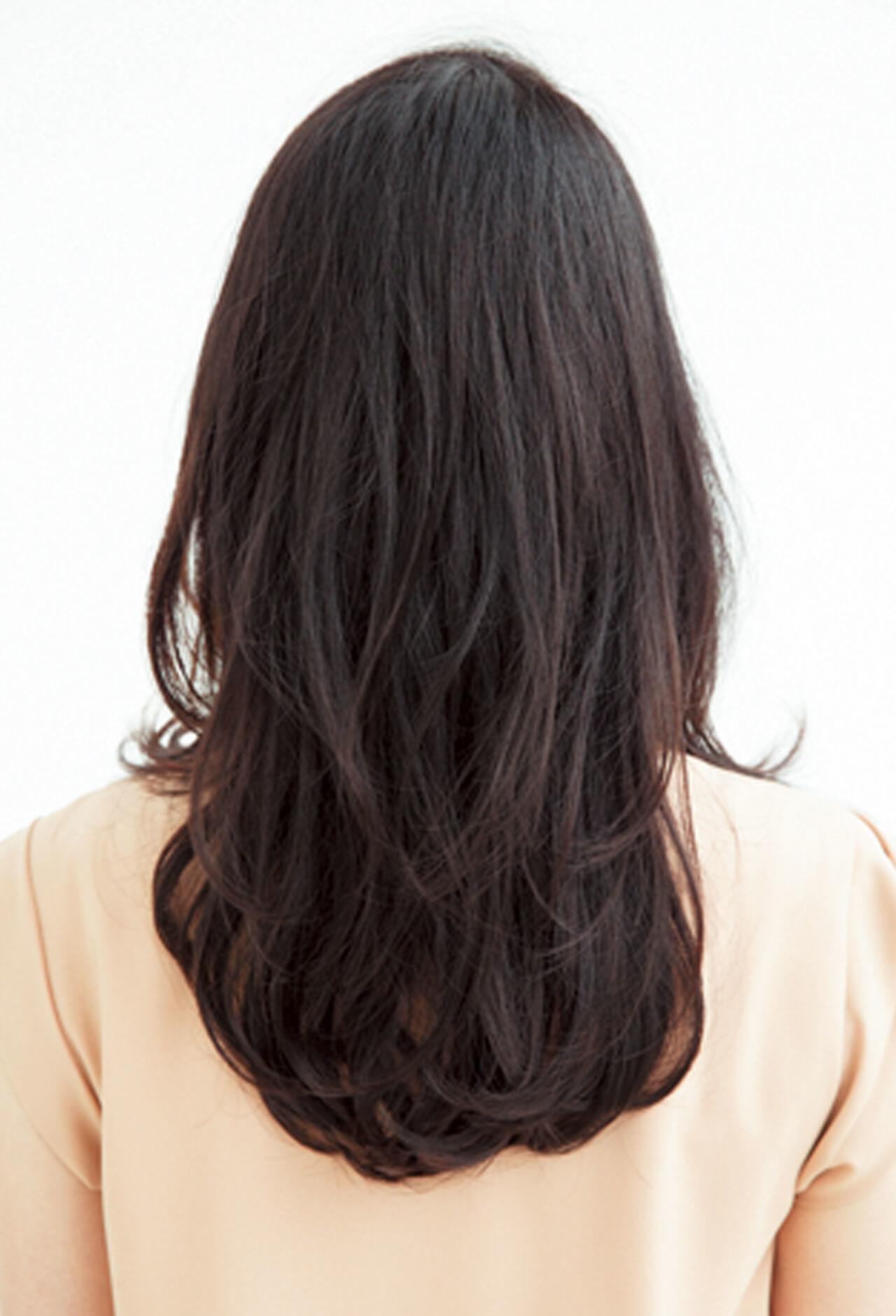 直毛にボリュームを!大ぶりなS字カールでロングヘアにメリハリを【40代のロングヘア】_1_3