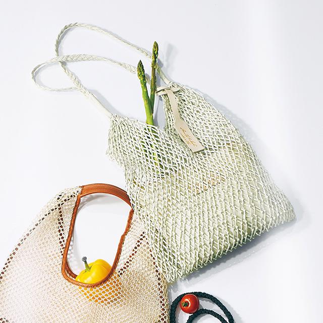 メッシュ素材のマーケットバッグ ¥40,500/CPR トウキョウ(アニタ ビラルディ)