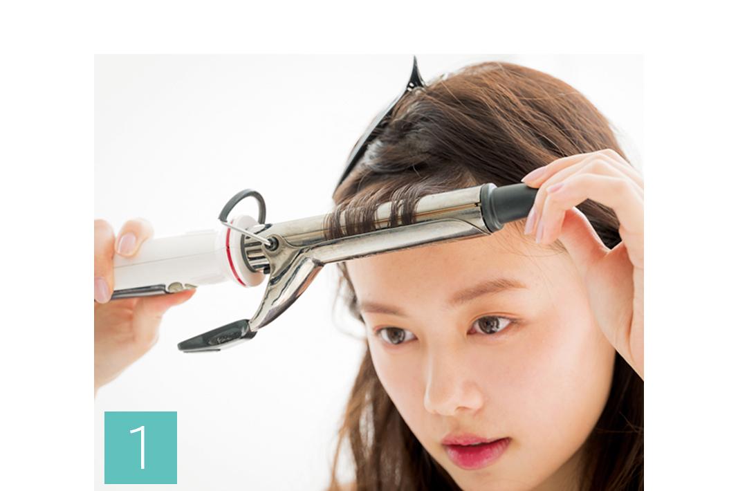 クセ毛の私でも、シースルー前髪を楽しめる?…コテを使って簡単お悩み解決★_1_2-1