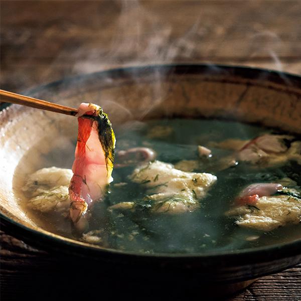 """魚のうま味が出ただしが絶品! """"アオサの金目鯛しゃぶしゃぶ""""【絶品鍋レシピ28days】_1_1"""
