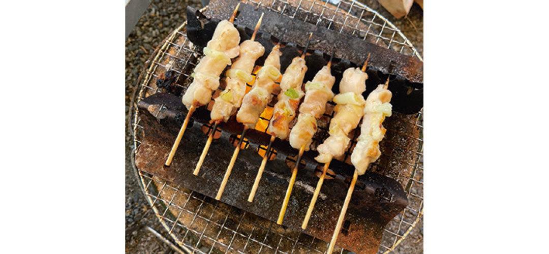 鈴木ゆうかはキャンプ飯の焼き鳥が格別