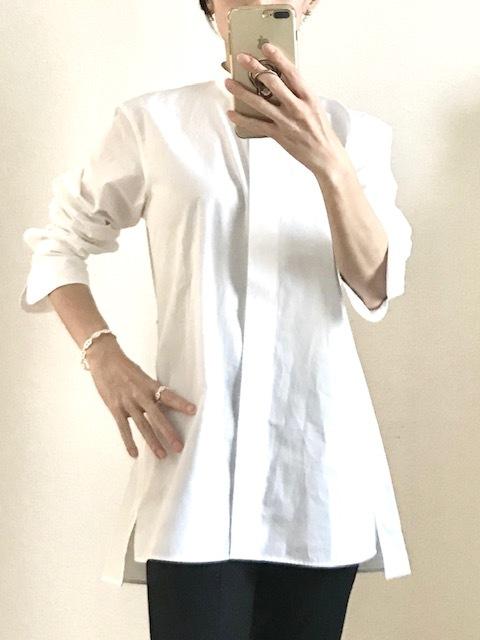 大人買いしたユニクロ+J③美女組でお揃い続出の白シャツ_1_3