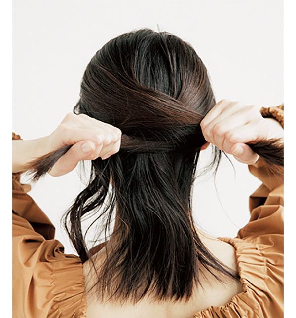 学生風にならないこなれハーフアップの作り方【40代のヘアアレンジ】_1_2-1