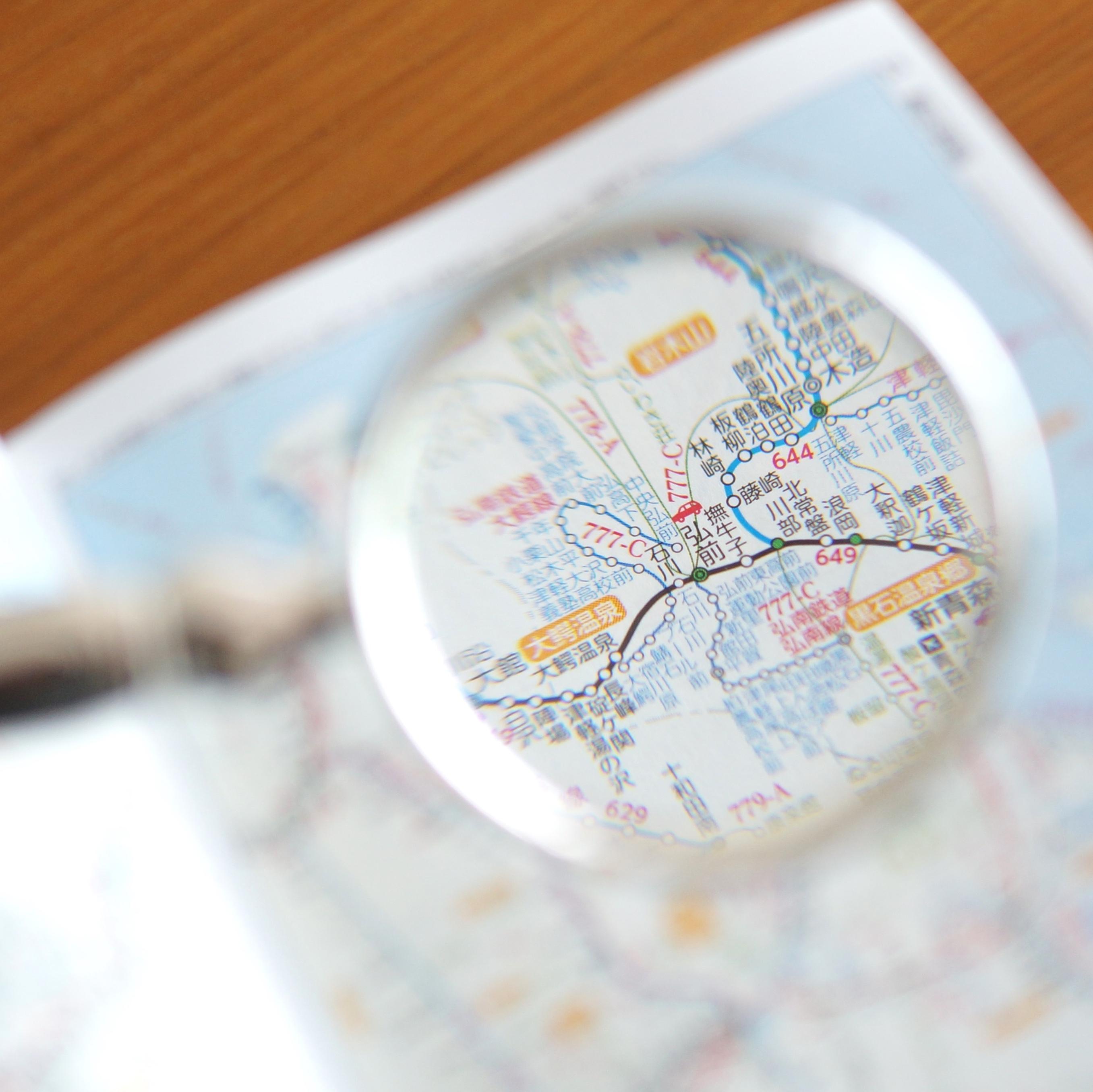 時刻表の路線図は索引地図とも