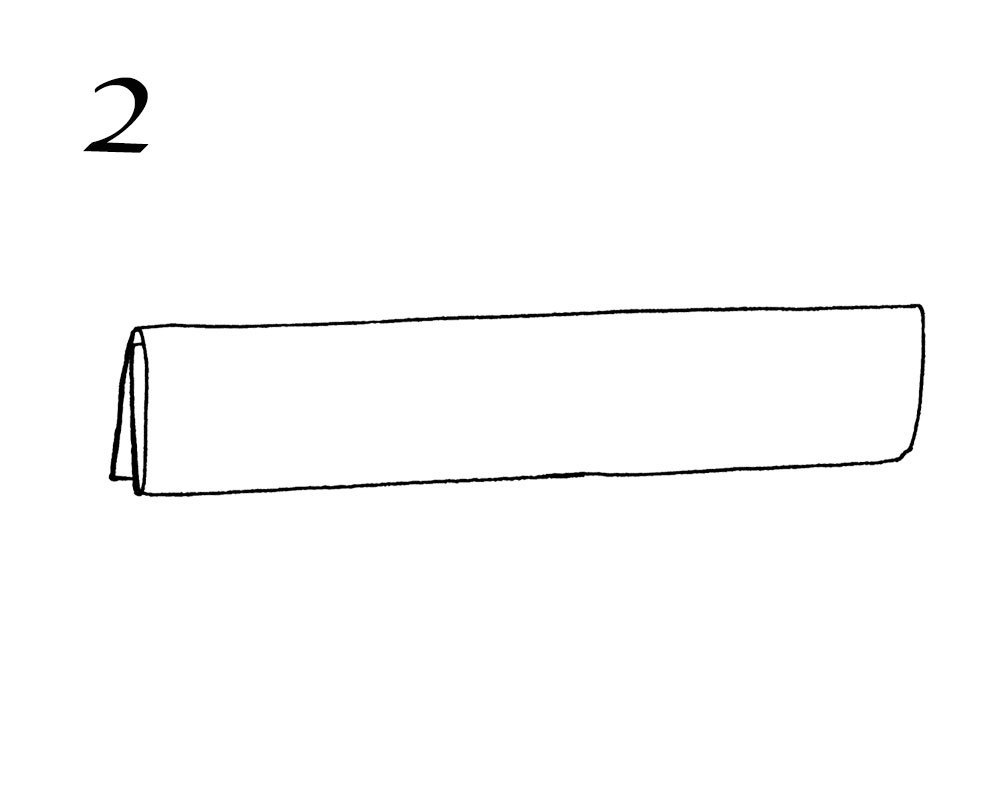 大判ストールの巻き方2