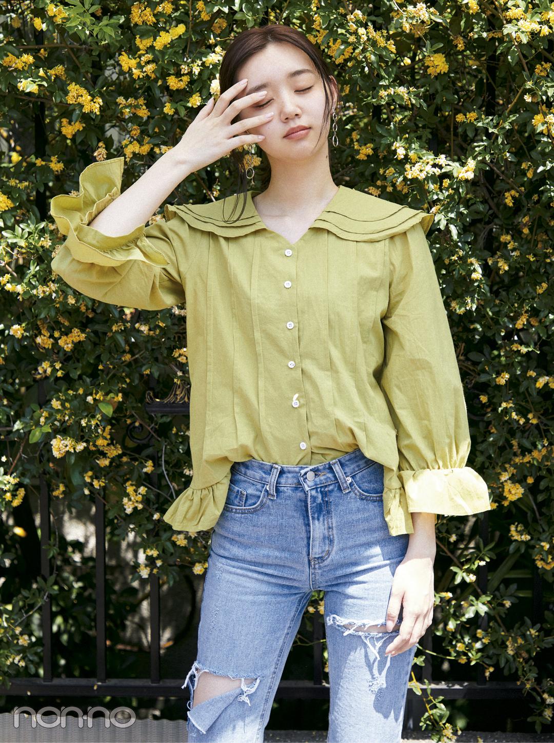 韓国ファッション2018夏♡ レトロなフリルブラウスコーデがイン!_1_1