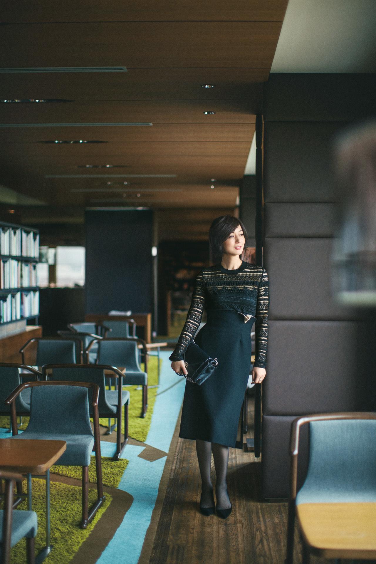 [富岡佳子 私服レシピ] <レーストップス> part 1_1_1