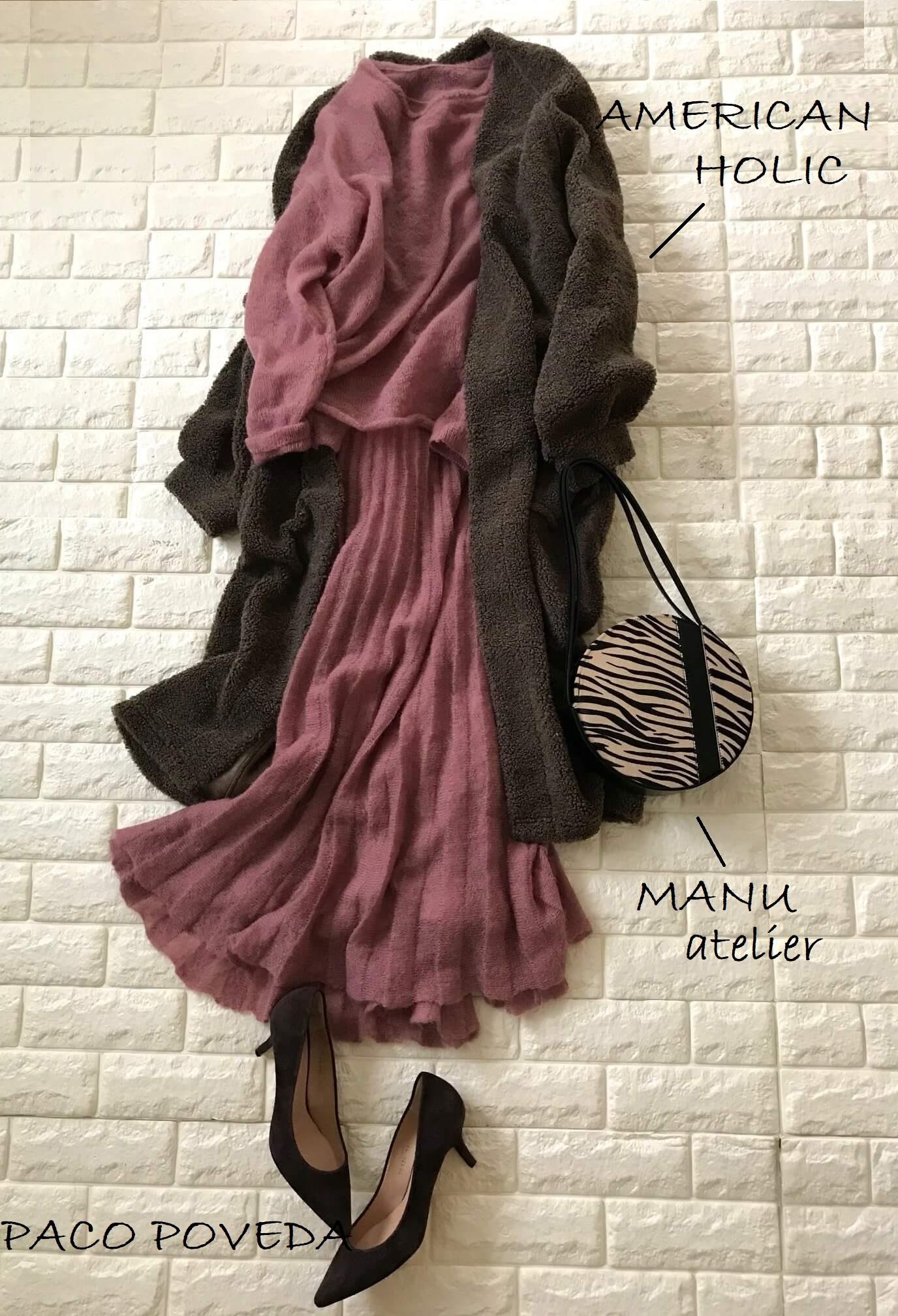 ミラオーウェンセットアップにコートを羽織った画像